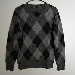 Men's J.Crew Lambswool V-Neck Sweater Small
